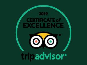 Recebemos o Certificado de Excelência TripAdvisor 2019