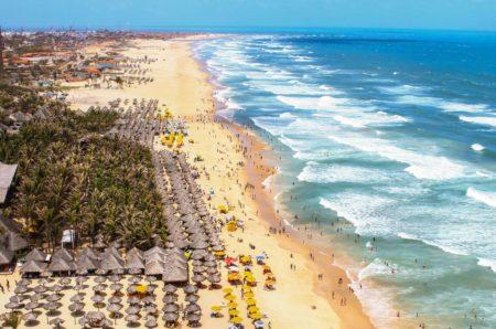 Vista aérea da Praia do Futuro