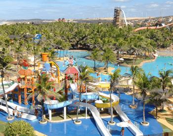 Vista aérea do Passeio Beach Park