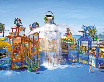 Acquashow no Parque infantil no Acqua Park