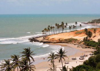 Vista panorâmica da praia de Lagoinha, Ceará