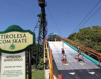 Rampa Tirolesa com Skate